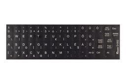 3M fekete kopásálló gyári minőségű magyar bevonat fehér betűvel, Dell Latitude laptopokhoz, D-002