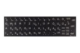 3M fekete kopásálló gyári minőségű magyar bevonat nagy méretű fehér betűvel, idősek, gyengén látók számára. Univerzális! Sok laptophoz jó!