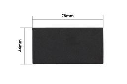 3M fekete kopásálló bevonat gyári minőségű touchpad matrica Dell Latitude E6430 laptopokhoz (78x44mm)