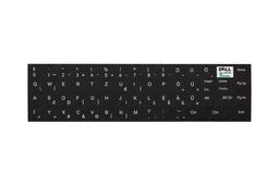 3M fekete kopásálló gyári minőségű magyar bevonat fehér betűvel, Dell Latitude és XPS sorozatú laptopokhoz