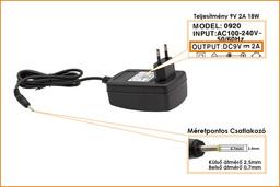9V 2A 18W 2.5mm/0.7mm helyettesítő tablet töltő