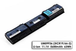 Acer Aspire 1420P, 1425P, 1820PT, 1825PT gyári új 6 cellás laptop akku/akkumulátor (UM09F36)