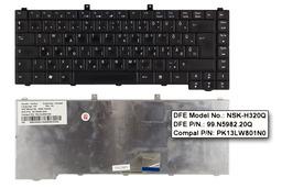 Acer Aspire 1670, 3010, 5610 használt magyar fekete laptop billentyűzet (NSK-H320Q)