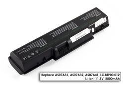 Acer Aspire 5738ZG laptop akkumulátor, új, gyárival megegyező minőségű helyettesítő, 12 cellás (8800mAh)