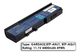 Acer Aspire 3620, Travelmate 2420, 6292 gyári új 6 cellás laptop akku/akkumulátor (BTP-ARJ1, GARDA32)