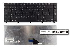 Acer Aspire 3810T, 4810T használt magyar matt fekete laptop billentyűzet (NSK-AMK0Q)