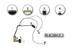 Acer Aspire 4810, 4810T, 4810TZ, gyári új LCD kijelző kábel, 50.4CQ04.011