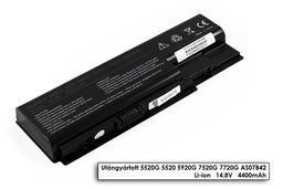 Acer Aspire 5720Z laptop akkumulátor, új, gyárival megegyező minőségű helyettesítő, 8 cellás (4400-5200mAh)