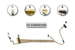 Acer Aspire 5520, 5715, 5720 használt kijelző kábel, webkamera csatlakozóval, LCD cabel with webcam connector, DC02000DS00