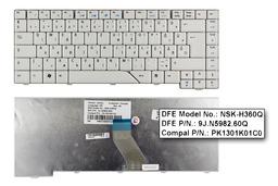 Acer Aspire 5730, 5730G használt magyar fehér laptop billentyűzet (NSK-H360Q)