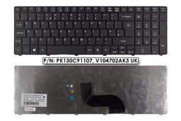 Acer Aspire 5410, 5733, 5738, 5810 gyári új angol matt fekete laptop billentyűzet, V104730AK3 UK