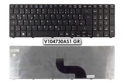 Acer Aspire 5410, 5733, 5738, 5810 használt német matt fekete laptop billentyűzet, V104730AS1 GR