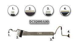 Acer Aspire 5530, 5530G használt kijelző kábel, webkamera csatlakozóval, LCD cabel with webcam connector, DC02000JL00
