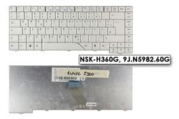 Acer Aspire 5730, 5730G használt német fehér laptop billentyűzet (NSK-H360G)