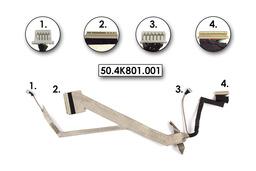 Acer Aspire 5735Z laptophoz használt kijelző kábel, webkamera csatlakozóval, 50.4K801.001