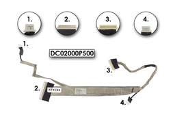 Acer Aspire 5737, 5737Z laptophoz használt LCD kijelző kábel, DC02000P500