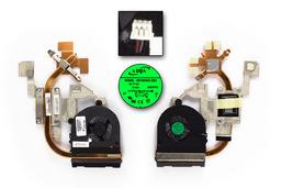 Acer Aspire 5741, 5741G gyári új komplett laptop hűtő ventilátor egység (60.PSZ02.001, AB7905MX-EB3)