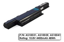 Acer eMachines E732Z laptop akkumulátor, gyári új, 6 cellás (4400mAh)