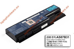Acer Aspire 5310, 5520, 6930 használt 6 cellás 70%-os laptop akku/akkumulátor (AS07B31)
