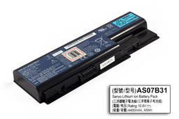 Acer Aspire 5310, 5520, 6930 használt 6 cellás 90%-os laptop akku/akkumulátor (AS07B31)