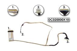 Acer Aspire 7715 és Emachines G725 használt kijelző kábel, webkamera csatlakozóval, LCD cabel with webcam connector, DC020000X10
