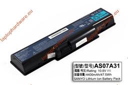 Acer Aspire 5542, 5738, 5739 70%-os 6 cellás gyári használt laptop akku/akkumulátor (AS07A31)