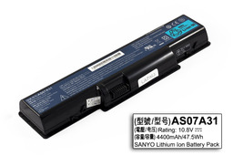 Acer Aspire AS07A31 100%-os 6 cellás használt laptop akkumulátor