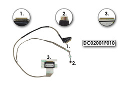 Acer Aspire E1-531, V3-531, E1-571, V3-571 gyári új laptop LCD kijelző kábel, DC02001F010
