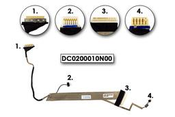 Acer Aspire Emachines E440 E442 használt kijelző kábel, webkamera csatlakozóval, LCD cabel with webcam connector, DC0200010N00