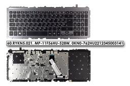 Acer Aspire M3-581T, M3-581TG gyári új fekete magyar laptop billentyűzet szürke kerettel (WIN8) (60.RYKN5.021)
