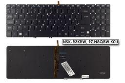 Acer Aspire M5-581T Gyári új UK angol világítós laptop billentyűzet, NSK-R3KBW