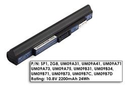 Acer Aspire ONE 531, 751, ZG8 3 cellás használt 90%-os laptop akku/akkumulátor (UM09A31)