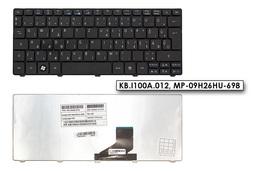 Acer Aspire One 532H, D260 gyári új magyar fekete laptop billentyűzet (KB.I100A.012)