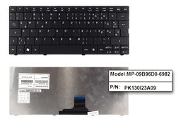 Acer Aspire ONE 722, 751, ZA3 használt magyarított fekete laptop billentyűzet (MP-09B96D0-6982)