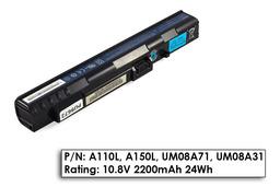 Acer Aspire ONE A110, A150, ZG5 használt 3 cellás, 50%-os laptop akku/akkumulátor  UM08A31
