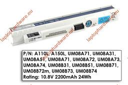 Acer Aspire One A110, A150, ZG5 használt 70%-os 3 cellás fehér gyári laptop akku/akkumulátor (UM08A31)
