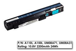 Acer Aspire One A110, A150, ZG5 használt 80%-os 3 cellás gyári laptop akku/akkumulátor (UM08A31)