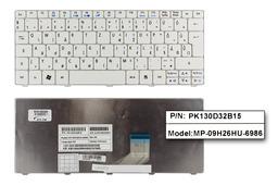 Acer Aspire One 533, D255, HAPPY2 gyári új magyar fehér laptop billentyűzet (KB.I100A.099)