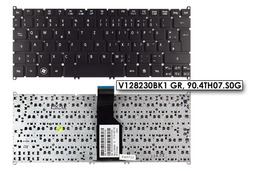 Acer Aspire S3, S5, One 725, 756 használt német fekete laptop billentyűzet (V128230BK1 GR)