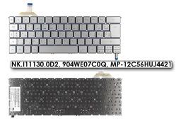 Acer Aspire S7-191 S7-391 S7-392 gyári új magyar háttér-világításos ezüst szürke laptop billentyűzet (NK.I11130.0D2)