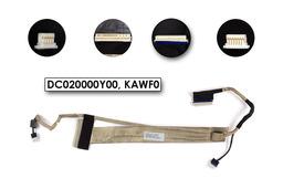 Acer eMachines E725, Aspire 5332 laptophoz használt kijelző kábel,webkamera csatlakozóval (DC020000Y00, KAWF0)
