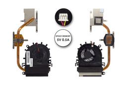 Acer eMachines E732, E732Z, E732G, E732ZG használt komplett hűtő ventilátor egység, DFS531305M30T