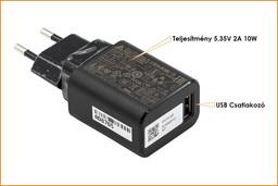 Acer Iconia Tab A3-A20, B1-830, Aspire SW3-013 gyári új USB 5.35V 2A 10W  tablet töltő (KP.01001.001)