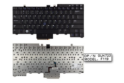Dell Latitude E5400, E6400, E6410 gyári új US angol laptop billentyűzet (0UK723)