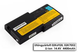 IBM ThinkPad R32, R40  helyettesítő új 8 cellás laptop akku/akkumulátor (FRU 02K6928, 02K7052)