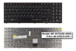Albacomp Activa, Clevo D470V, D9000T, M67SU használt német fekete laptop billentyűzet (MP-03756D0-4305L)