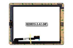 Érintő panel, touchscreen (fehér) Apple iPad 4 tablethez (8230015-3-A1-04F)
