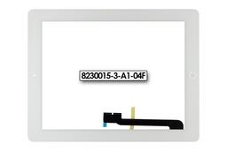 Érintő panel, touchscreen (fehér) Apple iPad 4 tablethez (8230015-3-A1-04F)