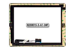 Érintő panel, touchscreen Apple iPad 4 tablethez (8230015-3-A1-04F)