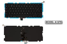 Apple MacBook Pro A1278 (13.3'', 2009-2011) gyári új háttér-világításos fekete UK angol laptop billentyűzet